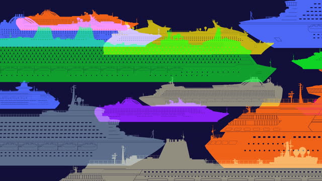 Ocean Liners or Cruise ships Animation