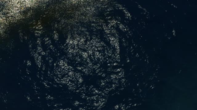 Ocean Pollution Aerial Aerial Shot of Ocean full of plastic ocean floor stock videos & royalty-free footage