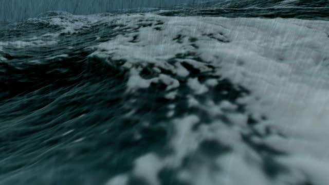 Ocean storm close in Full HD video