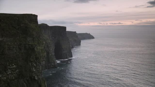 Ocean Sunset Cliffs of Moher video