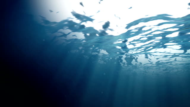 Ocean surface water from inside video