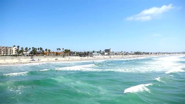 Ocean view in San Diego-California in 4K video