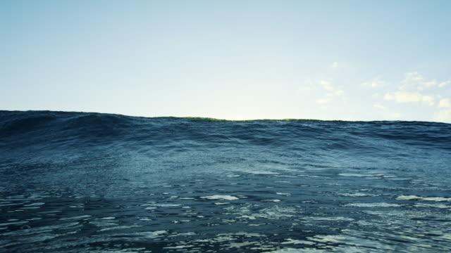 stockvideo's en b-roll-footage met ocean wave bij zonsondergang - ocean under water