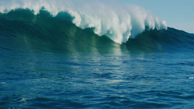 Ocean Wave Giant ocean wave in slow motion large stock videos & royalty-free footage