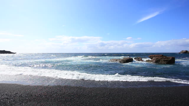 Ocean Waves and Beautiful Beach, Canary Islands, HD Video video