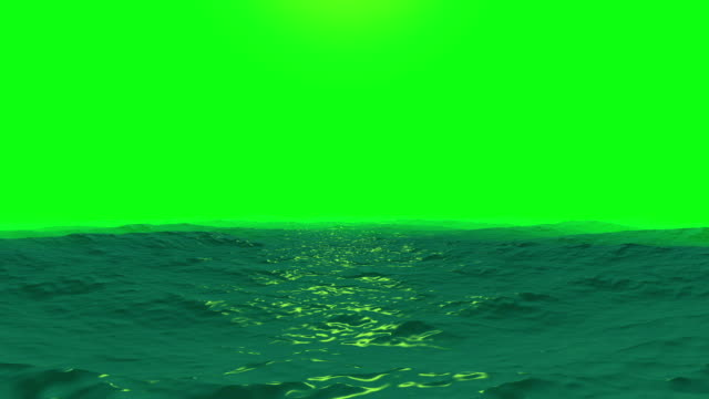 ocean waves on a green screen background - pond stock videos & royalty-free footage