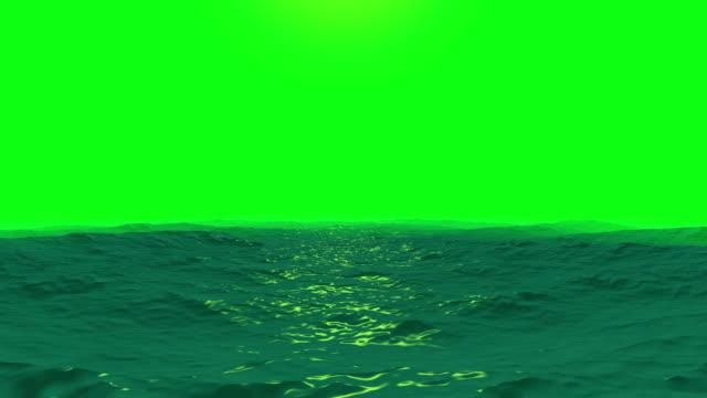 vídeos y material grabado en eventos de stock de olas del mar sobre un fondo de pantalla verde - charca
