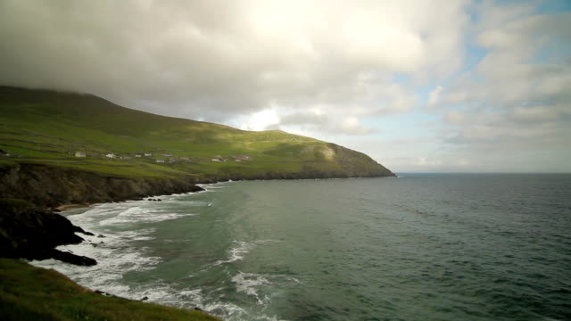 Ocean Waves - Ring of Kerry, Ireland - Still View & Pan video