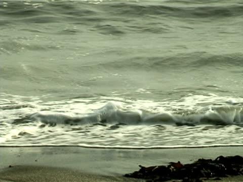 ocean waves washing the beach - klip uzunluğu stok videoları ve detay görüntü çekimi