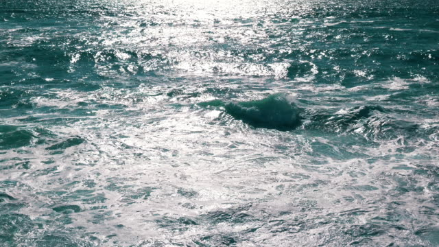 Ocean Waves with Sun Reflection video