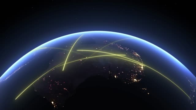 Oceania continent. Planet Earth, 3d terrestrial globe. Animated fast lines moving in Oceania, symbol of data transfer and digital connection. Oceania continent. Planet Earth, 3d terrestrial globe 4k. Animated fast lines moving in Oceania, symbol of data transfer and digital connection. pacific islands stock videos & royalty-free footage