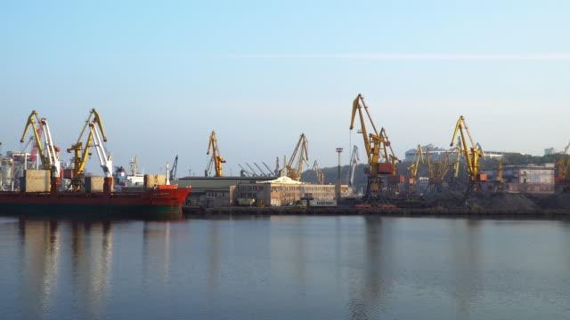 Odessa cargo sea port video