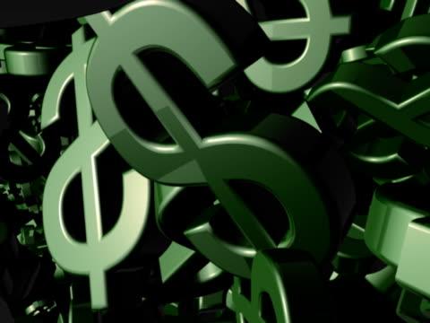 vídeos y material grabado en eventos de stock de flujo de dólares - accesorio financiero