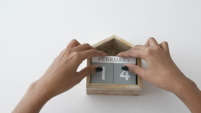 DIY of wooden toy to present the signage of love; valentine's day concept