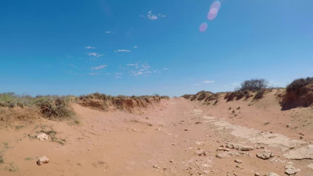 Off road driving through the outback. video