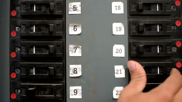 Off toggle switches electric panel breaker Switch futebol stock videos & royalty-free footage