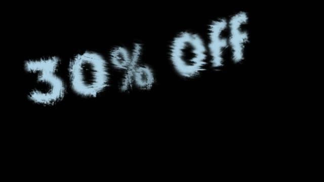 30% off - дискаунтер стоковые видео и кадры b-roll