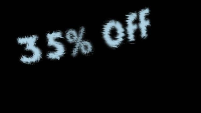 35% off - дискаунтер стоковые видео и кадры b-roll