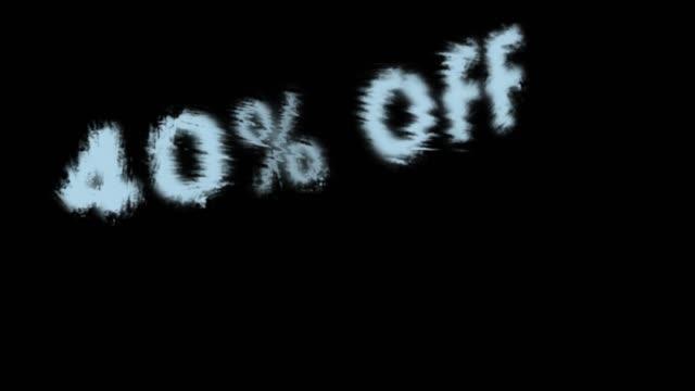 40% off - дискаунтер стоковые видео и кадры b-roll