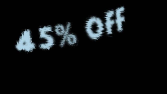 45% off - дискаунтер стоковые видео и кадры b-roll