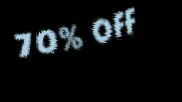 70% off - дискаунтер стоковые видео и кадры b-roll