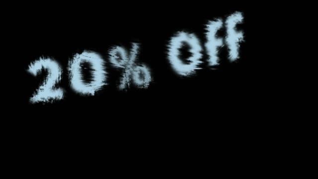 20% off - дискаунтер стоковые видео и кадры b-roll