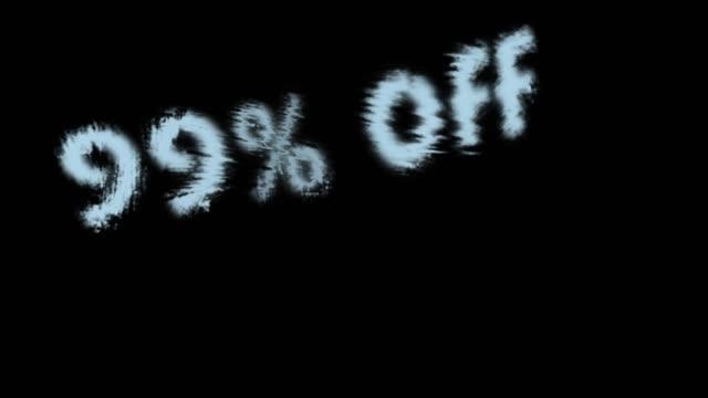 99% off - дискаунтер стоковые видео и кадры b-roll