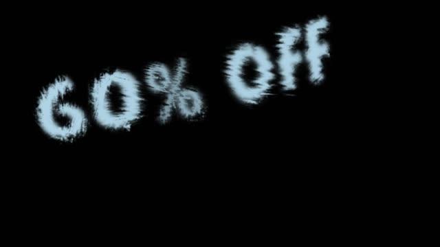 60% off - дискаунтер стоковые видео и кадры b-roll