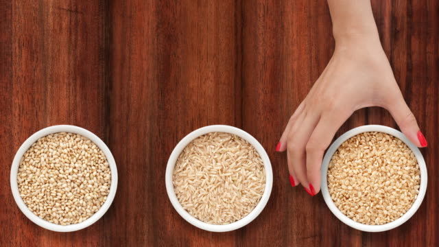 Offering brown rices video