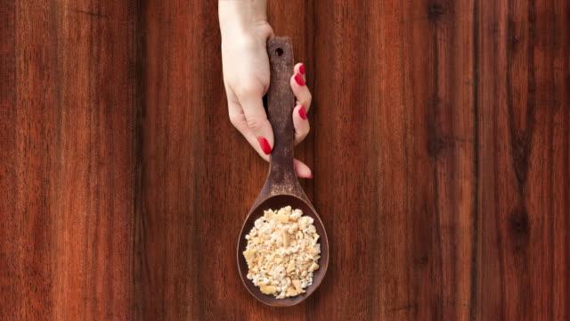 Offering cracker crumbs video