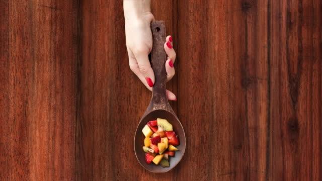 Offering fruit salad video