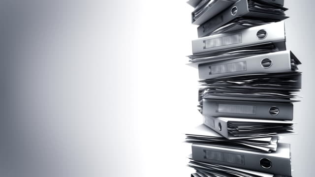 Office Binders Stack (Loop) video