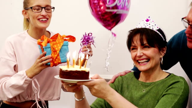 office birthday celebration - office party stock videos and b-roll footage
