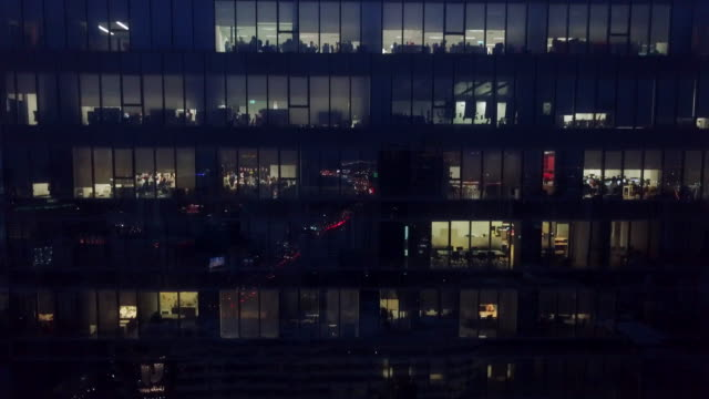 Office Building at night Office Building Exterior, Night overworked stock videos & royalty-free footage