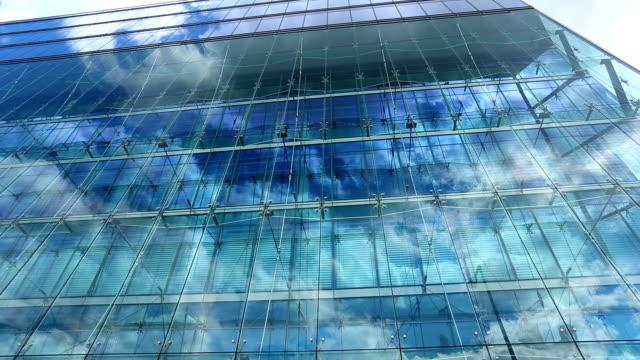 Immeuble de bureaux, timelapse - Vidéo