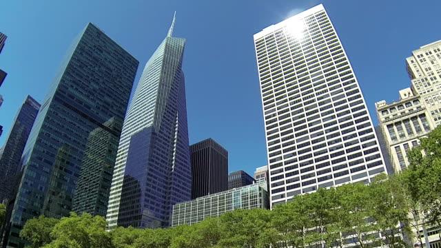 Office buildings in Bryant Park, New York video