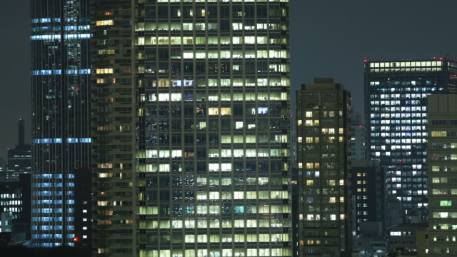 Office buildings in Tokyo, Japan video