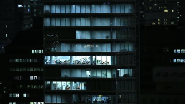 Office buildings in Tokyo, Japan video