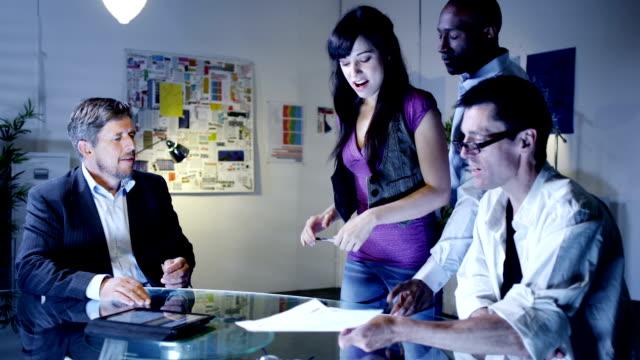 Office evening ideas meeting video