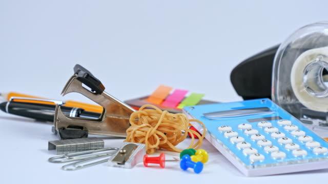 office: office supplies - przybory szkolne filmów i materiałów b-roll