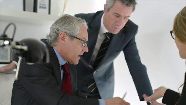Office scene in a modern office center video