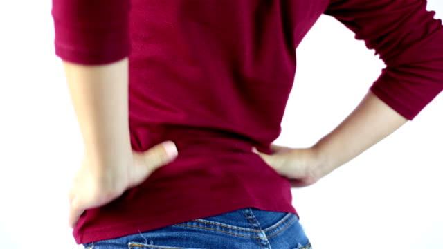 büro-syndrom: hexenschuss - hüfte stock-videos und b-roll-filmmaterial