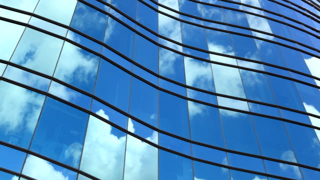 office tower reflection. time lapse. - contemporary architecture stock videos & royalty-free footage