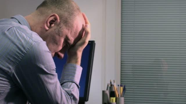 Office worker in distress