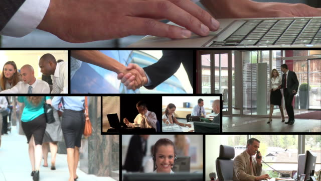 HD MONTAGE: Office Workers video