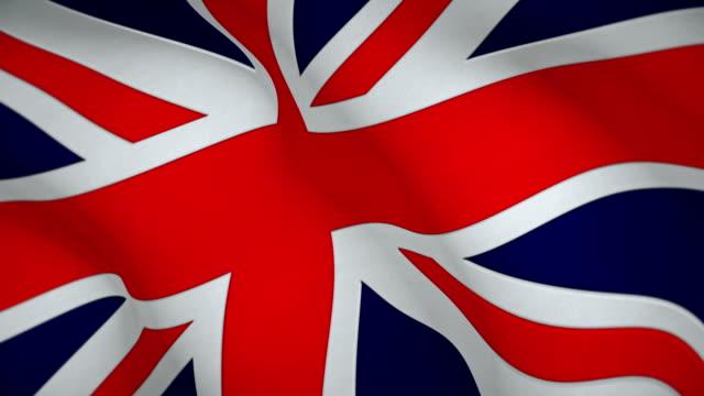 vidéos et rushes de drapeau officiel du royaume-uni - couronne reine