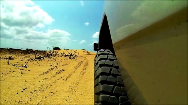 HD Off-road 4wd vechcle driving on sand dunes video