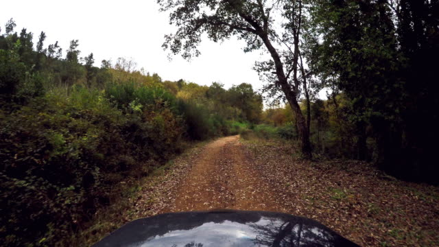 Off-road suv vehicle onboard camera video