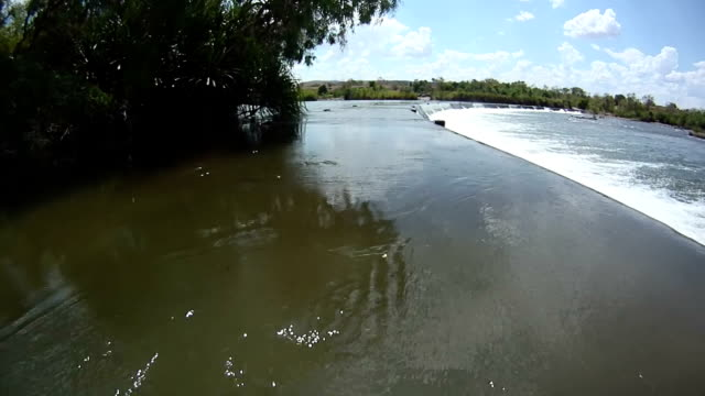 HD: Off-Road Vehicle Crossing The River video