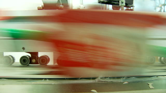Offset printing press working at high speed in a printing facility video